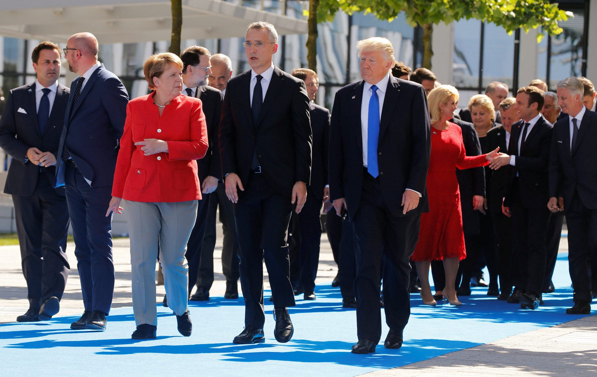 Image result for Trump and Merkel Praise NATO's Decision to Reduce Russia's Mission to Alliance