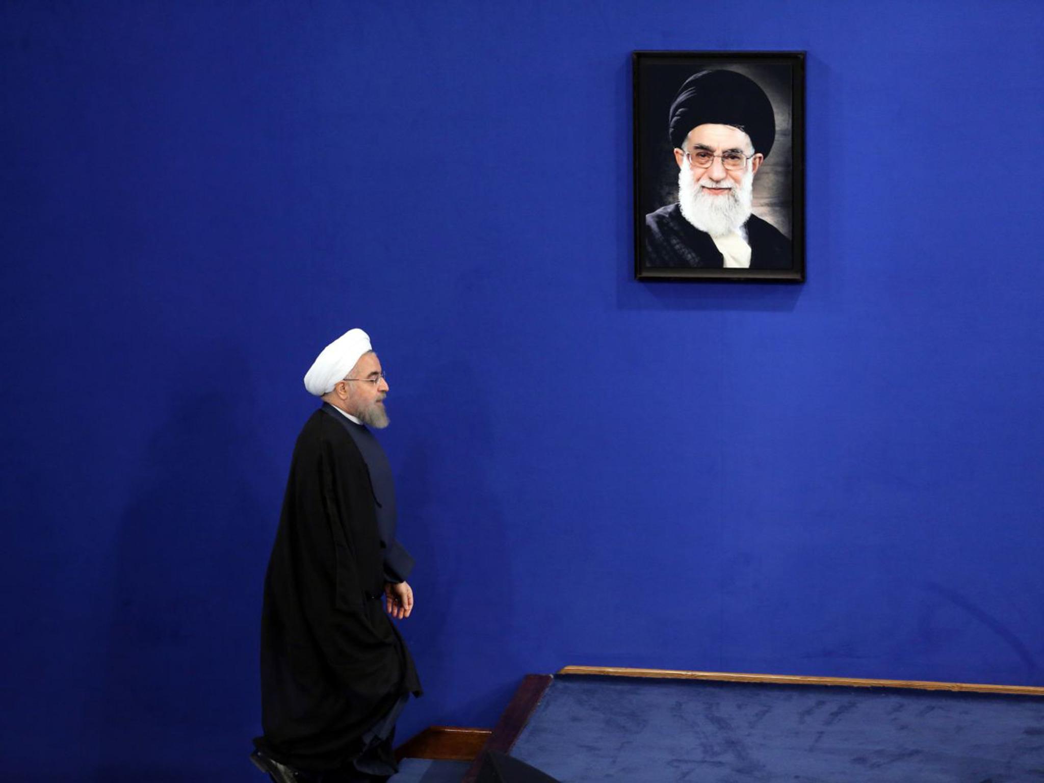 Risultato immagini per rouhani khamenei